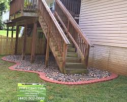 how to make underneath a deck more attractive lawn and