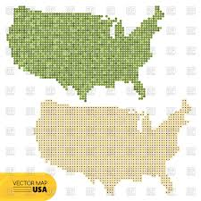 Map Of States Of Usa by Outline Of Map Of Usa With Alaska And Flags Of States Vector Image