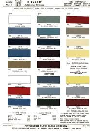 1967 chevelle paint codes