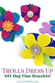 flower bracelet diy images Diy hug time bracelet add a hug time watch to your trolls dress up jpg