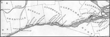st seaway map map of the st river canals 1907 brockville history album