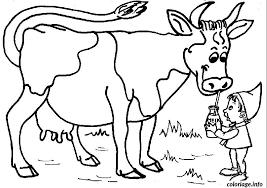 Coloriage Vache Qui Boit Du Lait dessin
