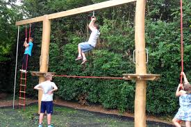 gorilla wooden swing sets used playground equipment cedar