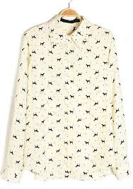 print blouse beige print rivet lapel chiffon blouse blouses tops