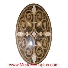 tuscany 36 x 60 oval waterjet cut floor medallion polished