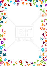 colorful alphabet ornament border royalty free vector clip image