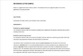 reference letter sample employment reference letter sample