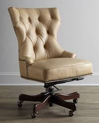 tufted leather desk chair hooker furniture solomon leather office chair