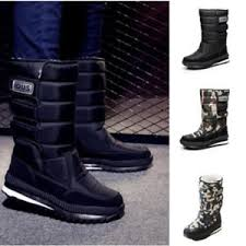 s boots calf length winter boots warm mens thicken mid calf length boots outdoor
