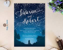 mountain wedding invitations starry wedding invitations and rsvp cards mountain