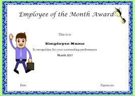 doc 800600 free employee of the month certificate template