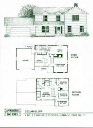 log home floor plans cabin kits appalachian homes the cedar bluff