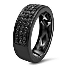 black diamond wedding band noori 14k black gold men s 1ct tdw black diamond wedding band ring