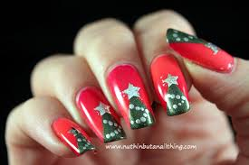 xmas tree nail art how you can do it at home pictures designs