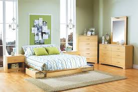 Oak Platform Bed Queen Size White Oak Wood Flat Bed Frame With Storage Drawers Of