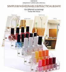 amazon com nail polish table rack acrylic clear makeup display