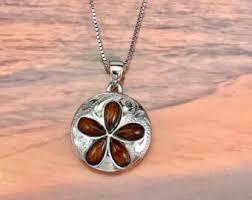 Koa Wood Plumeria Flower Sterling Silver Pendant Koa Wood Jewelry
