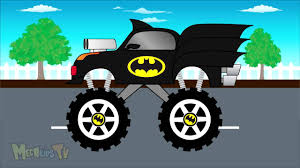youtube monster truck videos batman truck monster trucks for children mega kids tv youtube