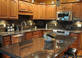Brown Subway Travertine Backsplash Brown Cabinet by Black Countertop Backsplash Ideas Backsplash Com