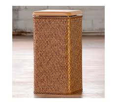 double laundry hamper with lid wicker laundry hamper with lid tall u2014 sierra laundry tidy with