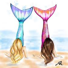 mermaids melsys etsy drawing painting coloring
