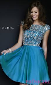 sherri hill cap sleeve beaded party dress promgirl