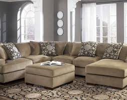 Chenille Sectional Sofa Sofa Microfiber U Shaped Sectional Sofa With Chaise Stunning