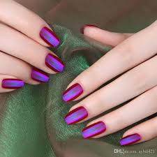 wholesale mixed different colors round full cover false nails
