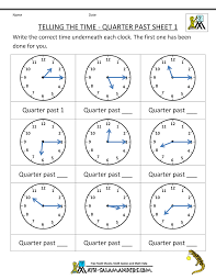 Mixture Word Problems Worksheet Clock Worksheet Quarter Past And Quarter To