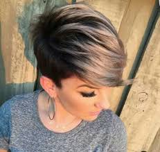 what kind of hair is used for pixie braid image result for dark pixie cut with highlights face hair nails