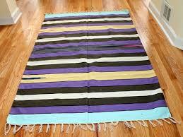 4x6 boho pure cotton yoga mat striped flatweave rug blanket