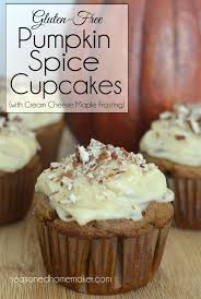 maple frosting gluten free pumpkin spice cupcakes with cream cheese maple frosting