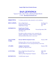 College Student Job Resume by Resume Examples For A Job Best Format Template Choose Inside High