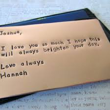 7 year anniversary gift ideas personalized wallet insert card from rameworks rameworks
