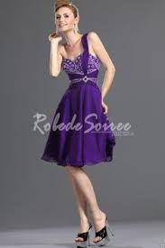 robe violette mariage robe demoiselle dhonneur en mousseline violet sans manche ruchées
