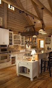 Log Home Kitchen Cabinets - kitchen design ideas kitchen cabinet ideas color modern kitchen