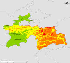 Tajikistan Map The Who E Atlas Of Disaster Risk For The African Region