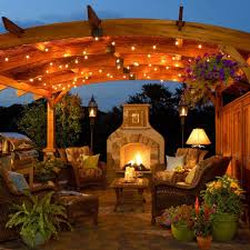 Outdoor String Lights Patio Outdoor String Lighting Patio Farmhouse With Courtyard Top Dining