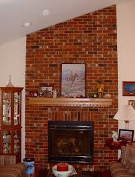my husband loves our ugly brick fireplace laurel home