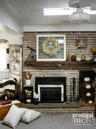 sew homegrown farmhouse fireplace renovation farmhouse fireplace
