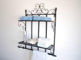 Wrought Iron Bathroom Shelves Iron Style Laundry Kitchen Bathroom Shelf Towel Rails