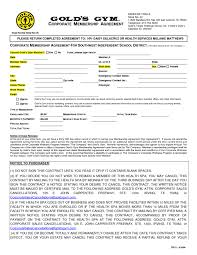 fitness contract template 100 images best of planet fitness