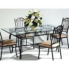 wrought iron dining table glass top inspiration ideas wrought iron dining table peachbowl co