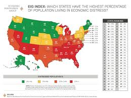 heat map us states economic innovation map of distressed states business insider