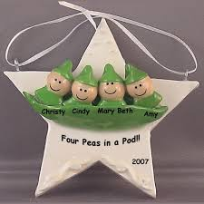 baby ornament four peas in a pod personalized