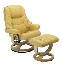 Yellow Recliner Chair Mario Yellow R 262 Series Top Grain Leather Recliner And Ottoman