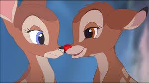 bambi red nosed deer