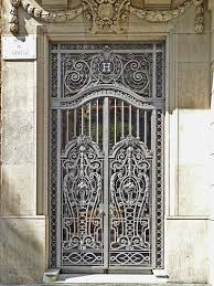 barcelona ornamental iron door doors gates and architecture