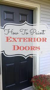 should all exterior doors be the same color exterior doors