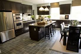 espresso kitchen island espresso kitchen cabinets with wood floors impressive interior